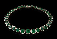 Robert Procop cushion emerald necklace. I would wear this to the grocery store, and every where else.