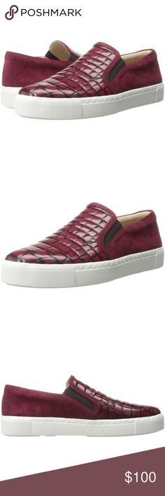 VIA SPIGA Maliah Croc Red Sneaker - Size 8 (BNIB) ***Price negotiable ONLY through 🅿️🅿️‼️***  A bold mix of textures elevates the aesthetic of an essential slip-on sneaker.  Sizing: True to size.   - Round toe - Croc embossed - Contrast construction - Elastic goring insets - Slip-on - Lightly padded footbed - Imported  Please feel free to message me with any questions‼️☺️  Thanks for looking‼️ ☺️🎉🎊🙌🏽🙏🏽👏🏽👛👠👢👗👚 Via Spiga Shoes Sneakers