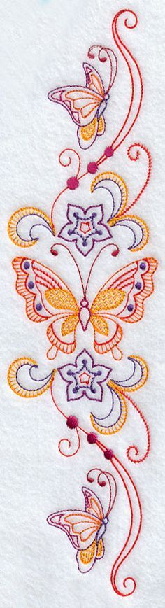 Machine Embroidery Designs at Embroidery Library! - Sweet Dreams Butterflies Spray 2 - Facing Left
