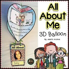 All About Me: (Beginning of the Year Mini Unit): 3D Balloon Craft: 13 pages: This craft will make your classroom colorful by hanging this on your ceiling. This mini packet will help you get to know a little about your little ones while keeping them occupied on the first day/s of school.