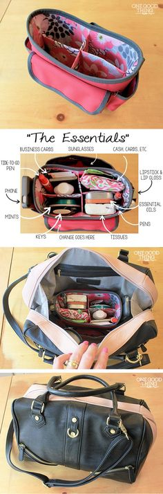 How To Switch Purses Quickly With A Purse Organizer · One Go.- How To Switch Purses Quickly With A Purse Organizer · One Good Thing by Jillee – A Fast and Easy Way To Change Purses! My Bags, Purses And Bags, Sewing Crafts, Sewing Projects, Sewing Ideas, Diy Accessoires, Fun To Be One, How To Make, Purse Organization