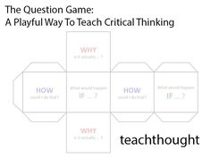 The Question Game: A Playful Way To Teach Critical Thinking. Jesus used it, wh. The Question Game: A Playful Way To Teach Critical Thinking. Jesus used it, why can& we?read this article and find out what I just did) Brain Based Learning, Whole Brain Teaching, Student Learning, Teaching Strategies, Teaching Tools, Teaching Resources, Teaching Methods, Teaching Kindergarten, Teaching Kids