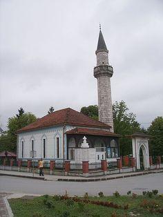 Mosque in the town centre of Velika Kladuša, Bosnia and Herzegovina.