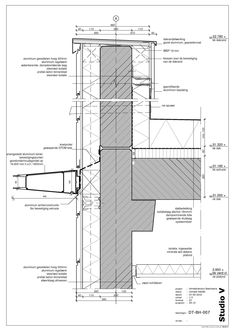 Architecture Drawings, Facade Architecture, Amazing Architecture, Curtain Wall Detail, Glass Curtain Wall, Architectural Section, Architectural Sketches, Expansion Joint, Building Drawing
