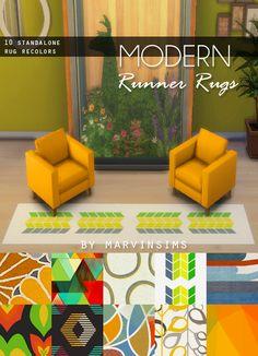 Maxis Match CC for The Sims 4 • Modern Runner Rug