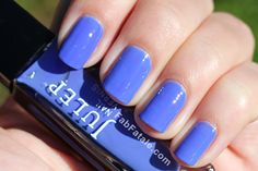 manicure mondays - editor's favorite at Allure mag online in 2010, a purple blue creme nail polish, somewhere between a periwinkle and denim.