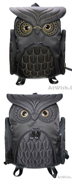 Fashion Street Cool Owl Shape Solid Computer Backpack School Bag Travel Bag is so cute ! #school #backpack #bag #owl #animal