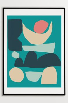 Abstract Shapes Print by Fluorama#fluorama#fluoramaposters#posters#prints#art#wallart#design#interiordesign#illustration