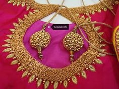Blouse Embroidery designs by Angalakruthi boutique Bangalore Watsapp:8884347333