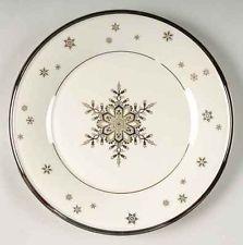 lenox solitaire snowflake plate - Christmas Plates