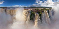 Cataratas do Iguaçu, entre o Brasil e a Argentina (foto: AirPano/Divulgação) - Fornecido por Viagem em Pauta
