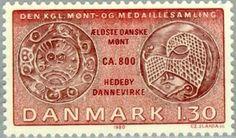 Drawing af the oldest Danish coin