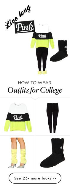 """""""Pink"""" by natalie1016 on Polyvore featuring Studio 8 and UGG Australia"""