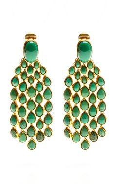 Wild West Cherokee Earrings With Turquoise Stones by Aurélie Bidermann for Preorder on Moda Operandi