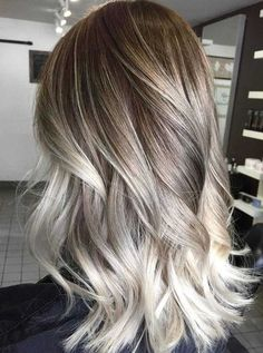 Here's Every Last Bit of Balayage Blonde Hair Color Inspiration You Need. balayage is a freehand painting technique, usually focusing on the top layer of hair, resulting in a more natural and dimensional approach to highlighting. Pretty Hair Color, Ombre Hair Color, Hair Color Balayage, Mint Hair Color, Ash Color, Color Shades, Onbre Hair, Hair Dye, Blonde Balayage Highlights