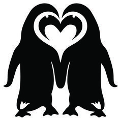 Two penguins in love... Maybe some variation of this for another penguin tattoo ;)