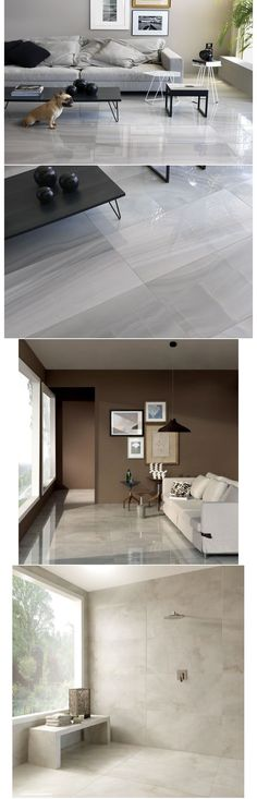 Gray floor tiles for the shower walls Floor Design, House Design, Home Interior, Interior Design, Narrow Living Room, Apartment Makeover, Living Room Flooring, Grey Flooring, Floors