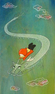 dragon ghibli style