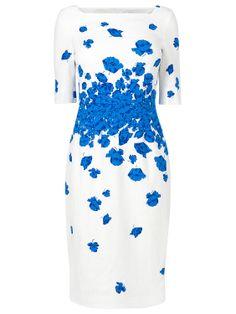 L.K. Bennett Lasa Poppy Dress, Snorkel Blue