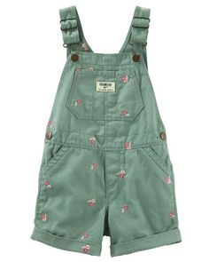 Toddler Girl Flower Schiffli Twill Shortalls from OshKosh B'gosh. Shop clothing & accessories from a trusted name in kids, toddlers, and baby clothes.