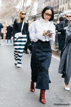 Milan Fashion Week осень-зима 2017-2018 - street style