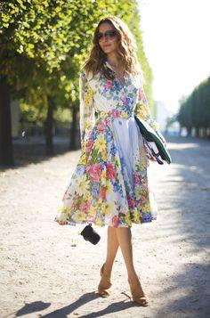 Ece Sukan, vintage Floral Dress.