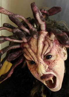 Ohio special-effects makeup artist competing on Syfy's 'Face Off' Movie Makeup, Scary Makeup, Sfx Makeup, Medusa Makeup, Demon Makeup, Cosplay Makeup, Costume Makeup, Halloween Makeup, Halloween Art