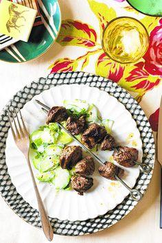 lamb spiedino w/ cucumber salad