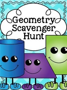 This FREE Geometry Scavenger Hunt focuses on 3D and 2D shapes. I created this to use with my second graders as a review. If used with the included recording sheet, it requires them to name each shape, and identify faces, edges, vertices, angles and sides as is relevant to the shape.