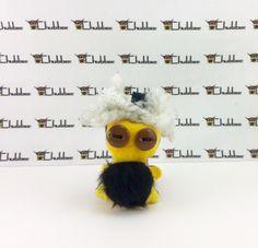 Fred, Mini Chubbee Keychain, plush creature by LondonsKingdom on Etsy