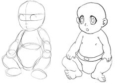 Step 01 baby2 How to Draw a Baby : Drawing Babies Step by Step Lesson