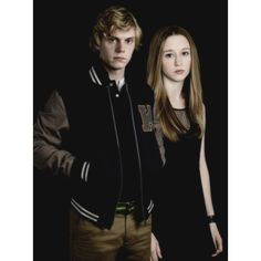 Evan Peters as Kyle and Taissa Farmiga as Zoe, Coven. Pics AHS ❤ liked on Polyvore featuring taissa
