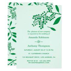 Simple foliage Autumn Fall Wedding Invitation - autumn wedding diy marriage customize personalize couple idea individuel