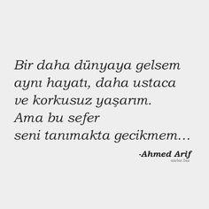 Ahmed Arif Aşk Sözleri, a carefully selected moment from each other – Words