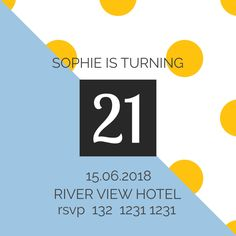 Edit this amazing birthday invitation using DesignWizard. Click on the image to personalize it to your special day!