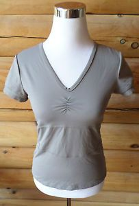 Womens Size M Scoutperformance Athletic Top, Taupe, Short Sleeve, Tactel Spandex