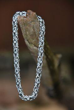 Silberarmbänder - 925 Sterling Silber Byzantine Armband Königskette - ein…