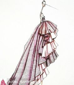 """Mi piace"": 478, commenti: 1 - Fashion Illustration's Empire (@illustrationsempire) su Instagram: ""Artwork by @sofies_illustrations - #giambattistavalli #art #artist #artwork #artfashion #gown…"""