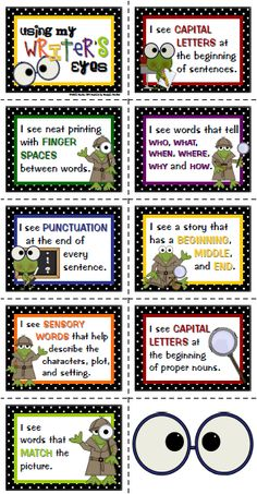 Sailing Through 1st Grade: Using Writer's Eyes