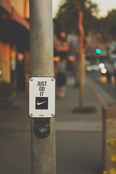 Just do it. #team nike. TIP: run on the spot at traffic lights, stopping slows down that fat burn.