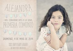Tarjeta invitación comunión Diseño y fotografia: livare@ono.com