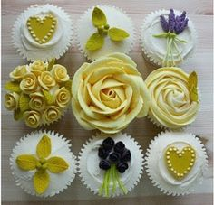 Beautiful cupcakes produced by Fair Cakes cupcake classes in England.