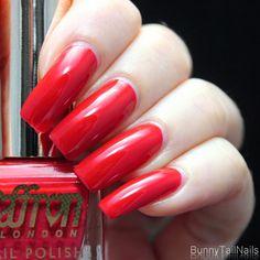 Saffron 20: BunnyTailNails: Sanna Tara Nail Art - Saffron 20 + 51 + 52 - Are You Red-y?