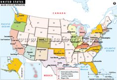 US Map | act like a kid again | Pinterest | United states map, 50 ...