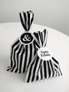 hermosos para regalo : striped wrapping ♥