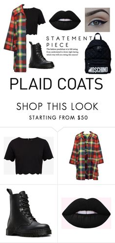 """""""Plaid Coats"""" by metteguin ❤ liked on Polyvore featuring Ted Baker, Valentino, Dr. Martens, Moschino and plaidcoats"""