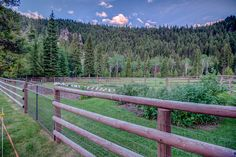 Darby, Montana horse facility fencing
