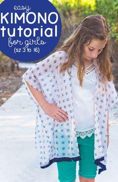Girls Kimono Tutorial (how to sew a Kimono)