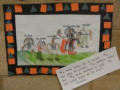 Family Unit: Students drew and wrote about their families.