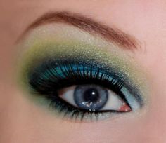 good colors for blue eyes... this application is a bit much, but great inspiration...